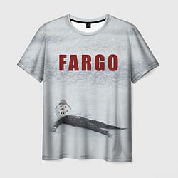 Футболка мужская Fargo snowman цвета 3D — фото 1