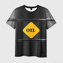 Футболка мужская Oil цвета 3D — фото 1
