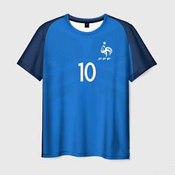 Футболка мужская Сборная Франции: Бензема ЧМ-2018 цвета 3D-принт — фото 1