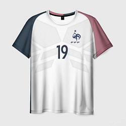 Футболка мужская Сборная Франции: Погба ЧМ-2018 цвета 3D-принт — фото 1