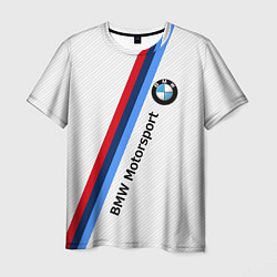 Футболка мужская BMW Motorsport: White Carbon цвета 3D — фото 1