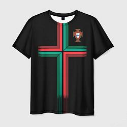 Футболка мужская Сборная Португалии: Альтернатива ЧМ-2018 цвета 3D-принт — фото 1