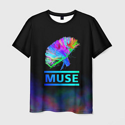 Футболка мужская Muse: Neon Flower цвета 3D-принт — фото 1