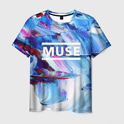 Футболка мужская MUSE: Blue Colours цвета 3D — фото 1