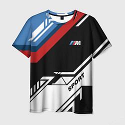 Футболка мужская BMW: M Sport цвета 3D — фото 1