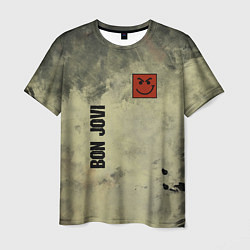 Футболка мужская Bon Jovi цвета 3D — фото 1