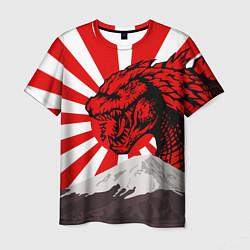Футболка мужская Japanese Godzilla цвета 3D-принт — фото 1
