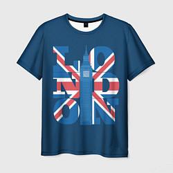 Футболка мужская London: Great Britain цвета 3D-принт — фото 1