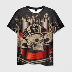 Футболка мужская Rammstein: Skull Metal цвета 3D — фото 1