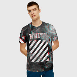 Футболка 3D мужская OFF-WHITE GLITCH FLAME - фото 2