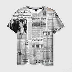 Футболка мужская Газета Newspaper цвета 3D — фото 1