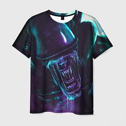 Мужская 3D-футболка с принтом ЧУЖОЙ, цвет: 3D, артикул: 10218322903301 — фото 1