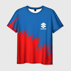 Футболка мужская SUZUKI цвета 3D-принт — фото 1