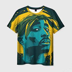 Футболка мужская 2Pac Shakur цвета 3D — фото 1