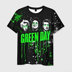 Футболка мужская Green Day: Acid Colour цвета 3D-принт — фото 1