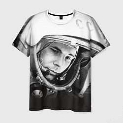 Футболка мужская Юрий Гагарин цвета 3D-принт — фото 1