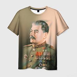 Футболка мужская Иосиф Сталин цвета 3D — фото 1