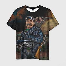 Футболка мужская Сталин военный цвета 3D — фото 1
