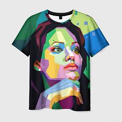 Футболка мужская Angelina Jolie: Art цвета 3D — фото 1