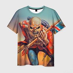 Футболка мужская Iron Maiden: Crash arrow цвета 3D-принт — фото 1