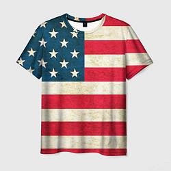 Футболка мужская США цвета 3D-принт — фото 1