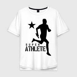 Футболка оверсайз мужская Лёгкая атлетика цвета белый — фото 1