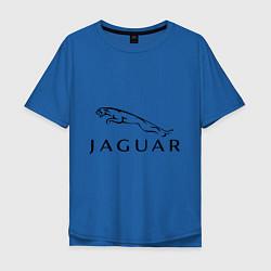 Футболка оверсайз мужская Jaguar цвета синий — фото 1