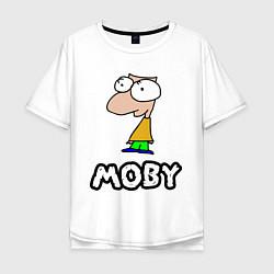 Футболка оверсайз мужская Moby цвета белый — фото 1
