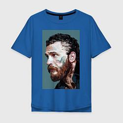 Футболка оверсайз мужская Том Харди Ван Гога цвета синий — фото 1