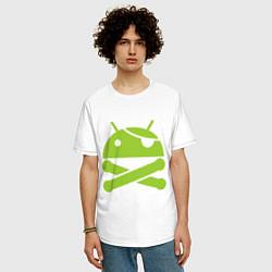 Футболка длинная мужская Android super user - фото 2