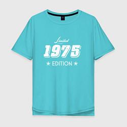 Футболка оверсайз мужская Limited Edition 1975 цвета бирюзовый — фото 1