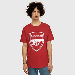 Футболка оверсайз мужская FC Arsenal цвета красный — фото 2