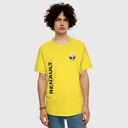 Футболка оверсайз мужская Renault Style цвета желтый — фото 2