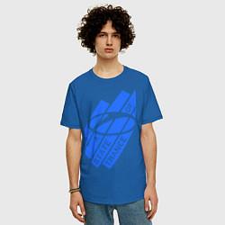 Мужская удлиненная футболка с принтом A state of trance, цвет: синий, артикул: 10014954905753 — фото 2