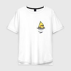 Мужская удлиненная футболка с принтом Попугай в кармане, цвет: белый, артикул: 10151587705753 — фото 1