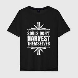 Футболка оверсайз мужская Harvest Themselves цвета черный — фото 1