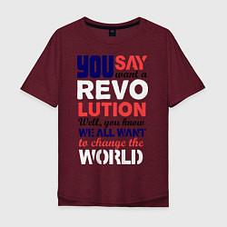 Мужская футболка оверсайз The Beatles Revolution
