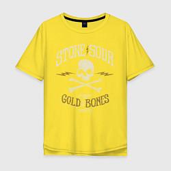 Футболка оверсайз мужская Stone Sour: Gold Bones цвета желтый — фото 1