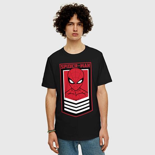 Мужская футболка оверсайз Sppider-Man / Черный – фото 3