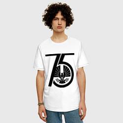 Футболка оверсайз мужская The Hunger Games 75 цвета белый — фото 2