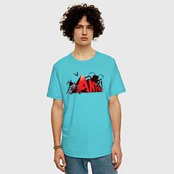 Футболка оверсайз мужская Ant-man цвета бирюзовый — фото 2