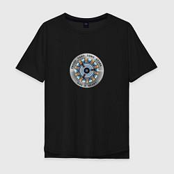 Мужская удлиненная футболка с принтом Iron Man, цвет: черный, артикул: 10184422105753 — фото 1