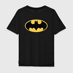 Футболка оверсайз мужская Batman цвета черный — фото 1