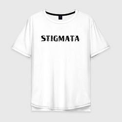 Мужская удлиненная футболка с принтом Stigmata, цвет: белый, артикул: 10203594905753 — фото 1
