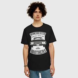 Футболка оверсайз мужская Impala Winchesters цвета черный — фото 2