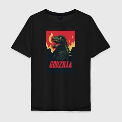 Футболка оверсайз мужская Godzilla цвета черный — фото 1