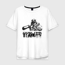 Футболка оверсайз мужская Escape from Tarkov Z цвета белый — фото 1