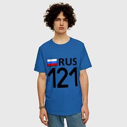 Футболка оверсайз мужская RUS 121 цвета синий — фото 2