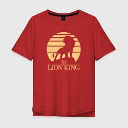 Футболка оверсайз мужская The Lion King цвета красный — фото 1