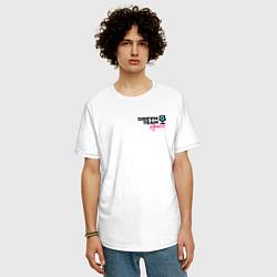 Футболка оверсайз мужская Dream Team logo цвета белый — фото 2